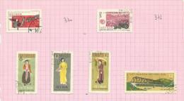 Vietnam Du Nord N°369, 371, 373 à 376 Cote 2.90 Euros - Vietnam