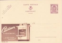 ** PUBLIBEL 905 : CUISINEZ à L´ELECTRICITE  ..........c´est Bien Mieux ! - CUISINIERE ** Entier Postal BELGIQUE NEUF - Electricity
