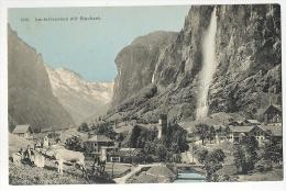 Lauterbrunnen Mit Staubach Kühen Und Leben Um 1908 - BE Berne