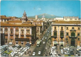 K2316 Catania - Via Etnea - Auto cars voitures bus autobus filobus / viaggiata