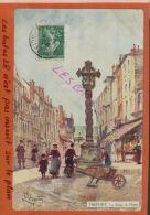 CPA 76  TREPORT. Gravure De La Croix De Pierre Par Leteurtre   DEC 2014 DIV 307 - Künstlerkarten