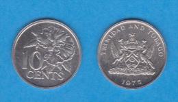 TRINIDAD Y TOBAGO   10  CENTIMOS  1.975  CU NI  KM#27  SC/UNC    DL-11.143 - Trinidad Y Tobago