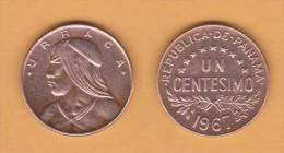 PANAMA   1  CENTESIMO  1.967  BRONCE  KM#22  VF/MBC    DL-11.138 - Panamá