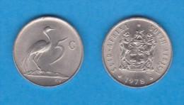 SUDAFRICA   5  CENTIMOS  1.978  NIQUEL  KM#84    XF/UNC    DL-11.146 - Sudáfrica