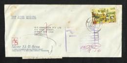 Pakistan Air Mail Postal Used Cover Return To Sender Postmark Pakistan To Asutralia Indonesia Pakistan Economic Stamps