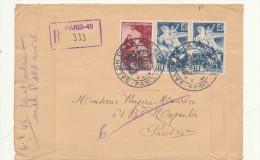 ENVELOPPE SALON DE LA PHILATELIE PARIS 1946 - Marcophilie (Lettres)