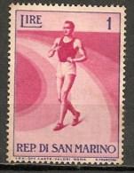 Timbres - Saint-Marin - 1954 - 1 Lire - - Saint-Marin