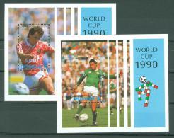 DOMINICA 1990 # Yvert SHEET BF 173/174 ** OLYMPIC SPORT FOOTBALL WORLD CHAMPIONSHIP (3807