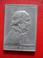 Medaille Plaquette Aluminium Claude Bernard A Borrel 1913 Medecine - Non Classés