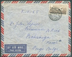 INCOMING MAIL - Belgique PA 6 Frs Obl. Dc GEMBLOUX 10-10-1955 Vers BAKWANGA (Sud Kasai Congo Belge) - 10345 - South-Kasaï