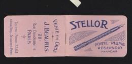 Ecriture - Carnet Publicitaire Avec Calendrier 1922 - Stellor - Porte-Plume Réservoir Francais  (stylo) - Calendriers