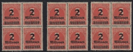 Abart Auf Dem Nr 312 Inflation 1923 / Drei Mal Die Selbe Abart. - Variétés