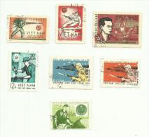Vietnam Du Nord Franchise N°6,7,12,18,19,21,22 Cote 2.70 Euros - Vietnam