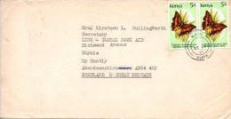 KENYA. N°422 De 1987 Sur Enveloppe Ayant Circulé. Papillon. - Schmetterlinge