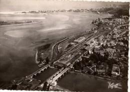64---HENDAYE---vue Aérienne Frontière Franco-espagnole-les Trois Ponts.........--voir 2 Scans - Hendaye