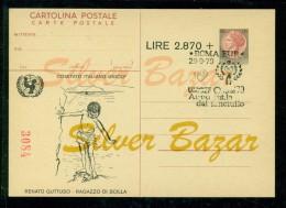 INTERO POSTALE - INTERI POSTALI - IPZS - I.P.Z.S. - ARTISTI - RENATO GUTTUSO - 6. 1946-.. Repubblica
