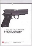 Légilslation Sur Les Armes  - Suisse - Kataloge