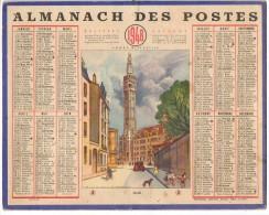 CALENDRIER GF 1948 - Lille Le Beffroi (dessin De Pierre Trepot ??) - Imp Oberthur - Calendriers