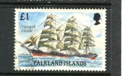 FALKLAND - Y&T N° 513° - Bateau - Cap-hornier - Criccieth Castle - Falklandinseln