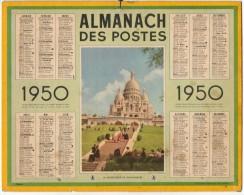 CALENDRIER GF 1950 - Le Sacré-Cœur De Montparnasse- Imprimerie Oberthur - Calendriers