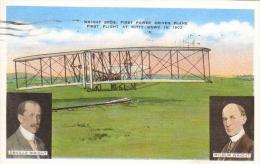 Orville Wright - Wilbur Wright - First Flight At Kitty Hawk 1903  - CP - ....-1914: Précurseurs