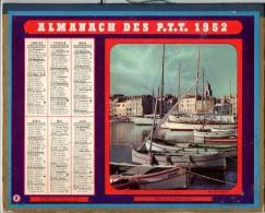 CALENDRIER GF 1952 - Port De St Tropez Et Village De Montagne - Imprimerie Oberthur - Calendriers