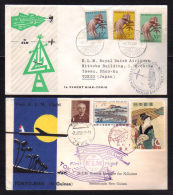 07.11.1958 -  2 Covers / First Flight TOKYO To BIAK - NEW GUINEA Go & Return - Airmail