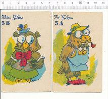 Humour Vintage Imagerie Ancienne / Couple De Hiboux / Hibou Oiseau - Bird Owl Humor  // IM 159 - Non Classificati