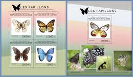 gu14404ab Guinea 2014 Butterflies 2 s/s