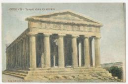 GIRGENTI Tempio Della Concordia A Colori 1908 - Andere Städte