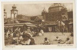 Scheveningen Strand Met Kurhaus Leben  Rond 1930? - Scheveningen