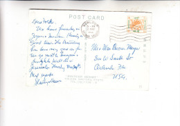 HONGKONG, 1954, Michel 187, One Doller Queen Elisabetz II, Postcard To USA, 1962 - Covers & Documents