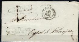 Caserta-25 - Piego Con Testo. - 1861-78 Vittorio Emanuele II