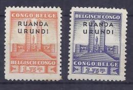Ruanda Urundi - 122/123 - Monument Roi Albert - 1941 - MNH - Ruanda-Urundi