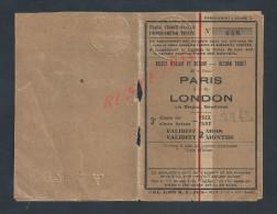 BILLET D ALLE & RETOUR 3e CLASSE 1947 : CHEMINS DE FER & BATEAU : PARIS A LONDON VIA DIEPPE : NEWHAVEN :