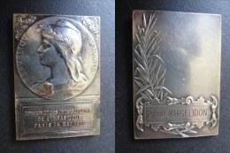 SUPERBE MEDAILLE - 14 MAI 1911 - PARIS - 22ème CONCOURS INTERSOLAIRE DE GYMNASTIQUE - 35 * 50 Mm - Frankrijk