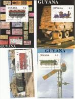 Trein, Train, Eisenbahn Railway: Guyana 1989 Mi Nr Blok 33 Tm 35 - Treinen