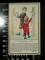 CHROMO TOM TIT MAGIE PHYSIQUE AMUSANTE CANIF DANS ARBRE  CAFES CHICOREE FLAMENT Lith Minot - Thé & Café