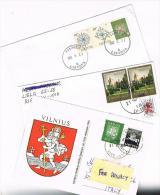 LITUANIA (LITHUANIA)  - STORIA  POSTALE -    LOTTO DI 3 LETTERE X ITALIA  - RIF.1971 - Lithuania