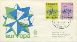 ITALIA - FDC VENETIA 1972 - EUROPA UNITA - CEPT - VIAGGIATA PER VENEZIA - F.D.C.