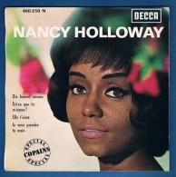 NANCY HOLLOWAY - VINYLE 45 Tours - Réf. 460.830 M - DECCA - Année 1964 - Vinyles