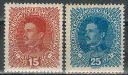 �STERREICH 1917 - MiNr: 221+223    */ MH