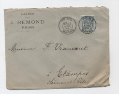 LETTRE 1899--REIMS MARNE -E470 - 1898-1900 Sage (Type III)