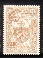 Peru 1953-60 Tobacco Plant 3s MLH - Peru