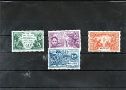 4 Valeurs  ( Exposition Coloniale Internationale  PARIS 1931 ) MAURITANIE  Neuf * - Nuevos