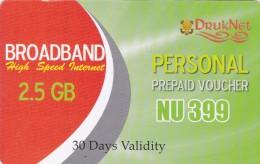 Bhutan, 2,5 GB, Broadband Voucher, 2 Scans. - Bhoutan