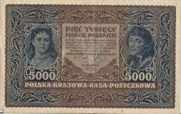 N1673 - Pologne: 5.000 Marek Polkisch 1920, Serja A - Polonia