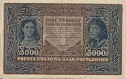 N1673 - Pologne: 5.000 Marek Polkisch 1920, Serja A - Pologne