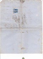 FRANCE YT N° 14B 20c Napoléon III Cachet Mars 1857 Rouen Barentin LEMARIE MALETRA Produits Chimiques - Marcophilie (Lettres)