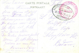 Feldpost 1. WK Bahnpost  L�TTICH - HASSELT Zug 354  1915 Lst. Inf. Btl. BRUCHSAL